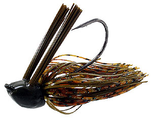 Jethro Baits Head Knocker Double Weed Guard Jig 047 - Green Pumpkin Splash