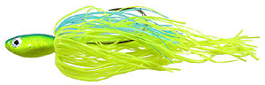 Strikezone Ledgebuster Elite Deep Crankin' Spinnerbait Chartreuse/Blue - Gold Blade