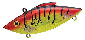 Bill Lewis Rat-L-Trap - Super Nova Series 580 - Chartreuse/Red Light Tiger