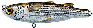 Koppers  Saltwater Series Mullet Twitchbait 901 - Natural/Matte