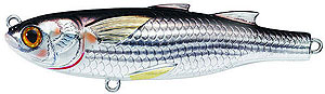 Koppers  Saltwater Series Mullet Twitchbait 932 - Silver/Black