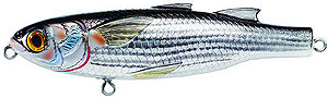 Koppers  Saltwater Series Mullet Walking Bait 932 - Silver/Black