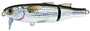 Koppers  Saltwater Series Mullet Wakebait 934 - Silver/Brown