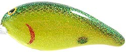 Norman Lures Deep Little N 121WM - Chartreuse Black