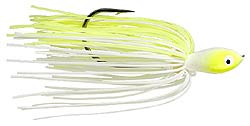 Strike King Quad Shad Spinnerbaits  3 Chartreuse White