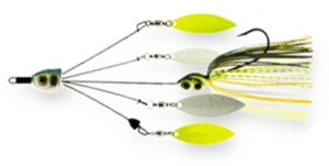 Z-Man Fishing Quadzilla 4-Arm Spinnerbait Chartreuse Sexy Shad