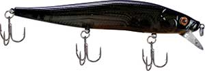 Luck 'E' Strike RC STX Jerk Bait Purple Gold Flash