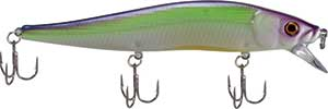 Luck 'E' Strike RC STX Jerk Bait Purple Green Apple