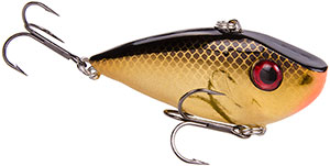 Strike King Silent Series Red Eye Shad 406 Gold Black Back