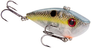Strike King Silent Series Red Eye Shad 500 Clear Ghost Sexy Shad