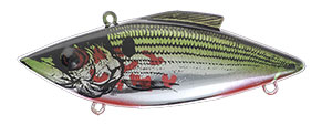 Bill Lewis Original Rat-L-Trap 1/2 oz 370 Bleeding Shad Chrome Green