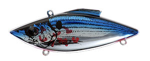 Bill Lewis Original Rat-L-Trap 1/2 oz 372 Bleeding Shad Chrome Blue