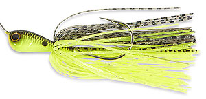 Jackall Super Eruption Spinnerbait Black Back Chartreuse
