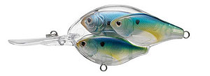 Koppers  Live Target Threadfin Shad Baitball Crankbait 806 - Pearl/Blue/Charteuse
