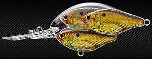 Koppers  Live Target Threadfin Shad Baitball Crankbait 814 - Gold/Black