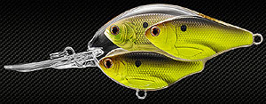 Koppers  Live Target Threadfin Shad Baitball Crankbait 818 - Chartreuse/Black