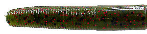 Tightlines UV UVenko Worms UV Green-Red Flake