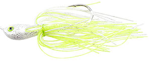 Venom Ultra Vibe Turtle Back Spinnerbaits Chartreuse/White