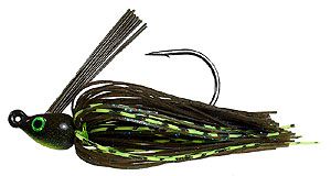Venom Pro Series Swim-n-Jig Green Pumpkin Flash/Chartreuse Highlights