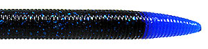 Jethro Baits Waldo Stick Bait Series 016 - Black/Blue Flake/Blue Tail