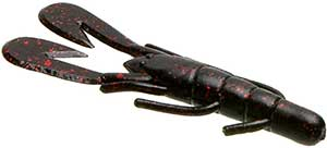 Zoom Bait Company Ultra Vibe Speed Craw 001 - Black Red Glitter