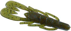 Zoom Bait Company Ultra Vibe Speed Craw 239 - Green Pumpkin Blue