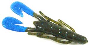 Zoom Bait Company Ultra Vibe Speed Craw 293 - Green Pumpkin Blue/Blue Claw