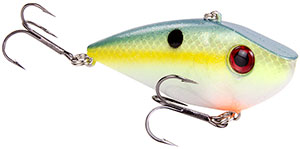 Strike King Silent Series Red Eye Shad 538 Chartreuse Sexy Shad