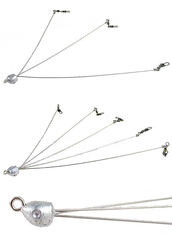 D&L Tackle The School Umbrella Rig Color Selections