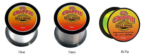 Mr  Crappie Mega Spool Monofilament Fishing Line