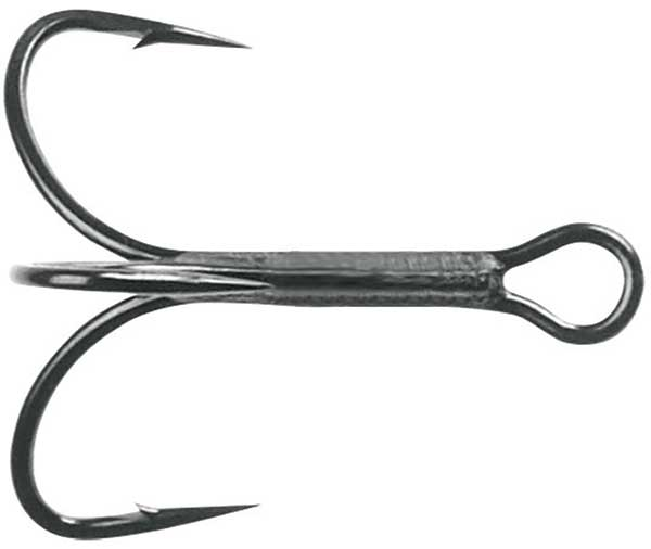 Lot 3 Mustad TG78NPBN-4-6U KVD Triple Grip Ringed Eye Blk Nickel Treble Sz4 Hook