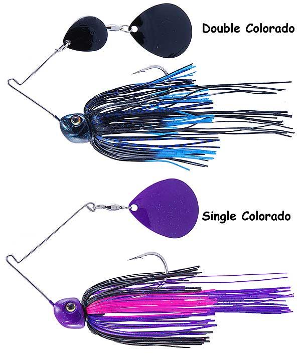 Strike King Double Colorado Blades Tour Grade Night Spinnerbait 6 Pack