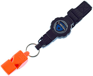 T-REIGN Retractable Gear Tether with FOX 40 Safety Whistle