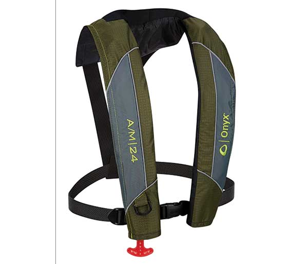 Onyx A/M-24 Automatic/Manual Inflatable Life Jacket - NOW STOCKING