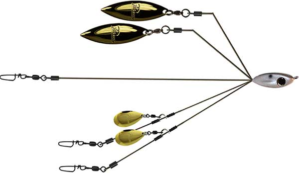 Picasso BFL Smackdown 4 Blade Junior Umbrella Rig - NOW AVAILABLE