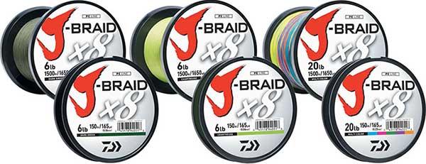 Daiwa J-Braid X8 Braided Line - NOW IN STOCK