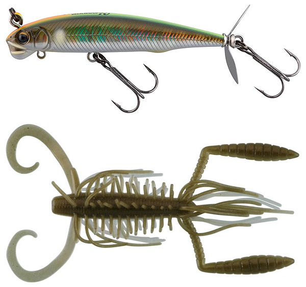 Imakatsu Hairy Hawg and Alive Screw Minnow 70