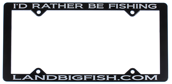 Land Big Fish License Plate Frame - NEW CUSTOM ITEM