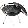 Camp Chef Fire Pit with Lid, 1/2 Grill and Poker