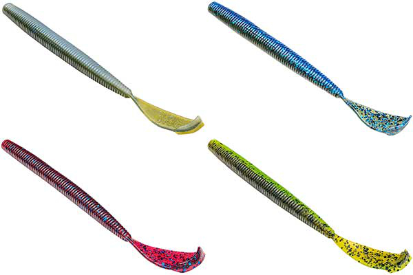 Strike King Rage Tail Cut-R Worm - NEW COLORS & SIZE