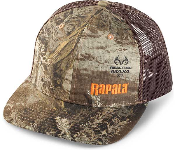 Rapala Trucker Cap - Realtree/Brown Mesh - NEW APPAREL