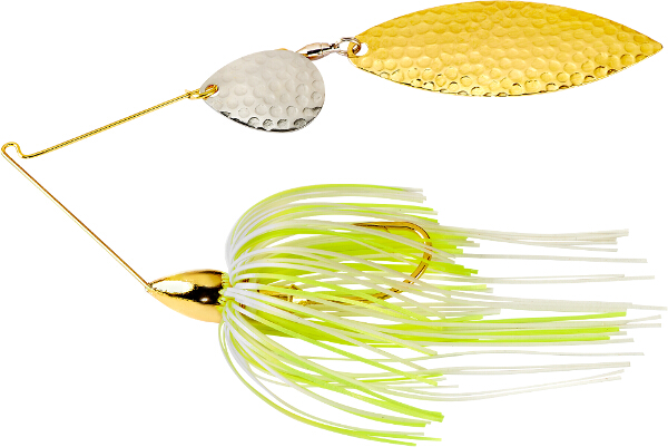 War Eagle Gold Frame Hammered Tandem Willow Spinnerbait - FULL SELECTION