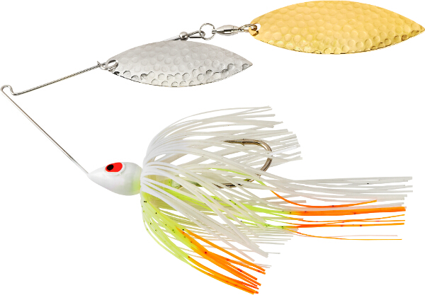 War Eagle Painted Head Hammered Double Willow Spinnerbait - FULL SELECTION