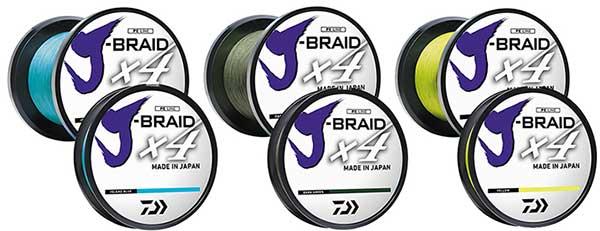 Daiwa J-Braid X4 Braided Line - NEW FISHING LINE