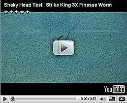 Strike King 3X ElaZtech Super Finesse Worm Video