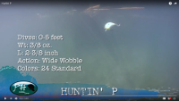 PH Custom Lures Huntin' P Squarebill Video
