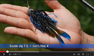 Jackall Tungsten Spade Jig Video
