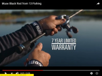 13 Fishing Muse Black Casting Rods Video