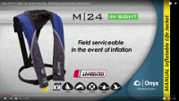 M-24 In-Sight Manual Inflatable Life Jacket (PFD)