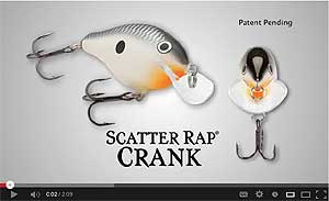 Rapala Scatter Rap Crank Video